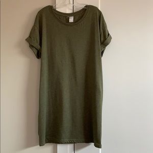 Dark Green T-shirt dress